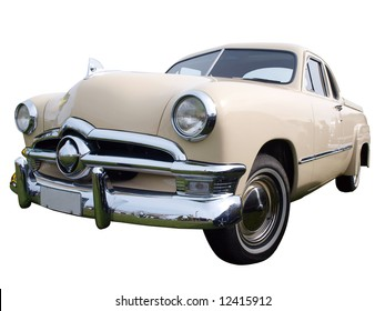 1950 Classic Car  isolated with clipping path