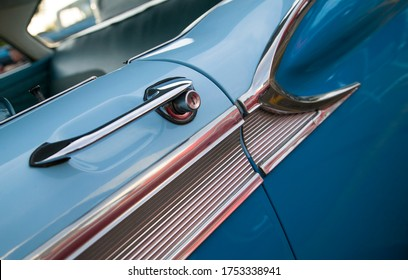 1950s classic car with chrome