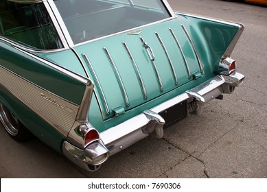 1957 Chevrolet Bel Air Nomad station wagon in green paint