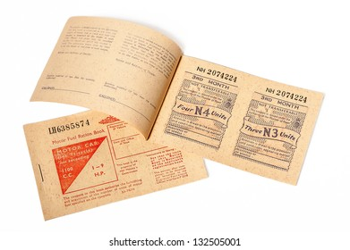 1973 British motor fuel ration books