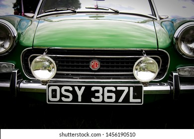 1973 MG Midget taken at the Chillingham show in 2019 finished in metallic green