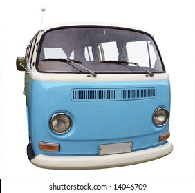 67939a36bf 1973 Volkswagen Kombi Van isolated with clipping path