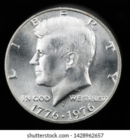 1976 S Commemorative Proof Half Dollar.  It commemorates the bicentennial of the United States. This the obverse of the coin.