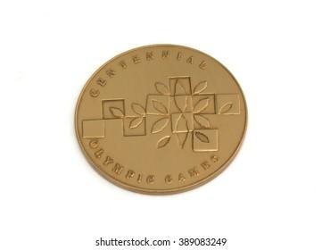 1996 Atlanta Olympic Games Participation medal, reverse. Kouvola, Finland 21.07.2015.