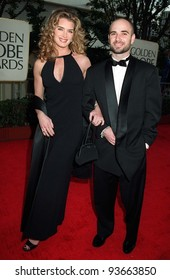19JAN97:  Actress BROOKE SHIELDS & fiance ANDRE AGASSI at the Golden Globe Awards.       Please Credit: Pix: JEAN CUMMINGS