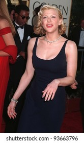 19JAN97: Actress COURTNEY LOVE at the Golden Globe Awards. Pix: PAUL SMITH