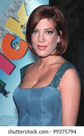 """19JUL99: Actress TORI SPELLING at premiere of her new movie """"Trick"""" at the Egyptain Theatre, Hollywood.  Paul Smith / Featureflash"""