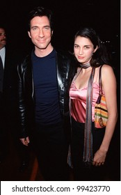 "19OCT99:  ""The Practice"" star DYLAN McDERMOTT & wife SHIVA at Los Angeles premiere of ""Three to Tango"" in which he stars with Neve Campbell & Matthew Perry.  Paul Smith / Featureflash"