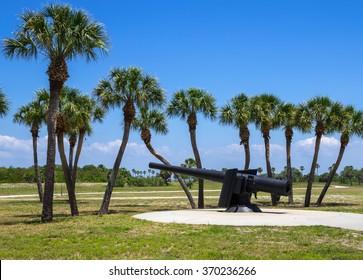 19th Century Canon at Fort De Soto, Florida, United States
