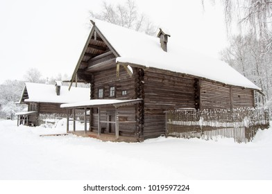 19th century log cabin in Russian open air museum
