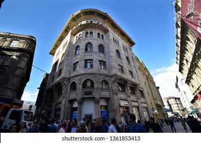 19th century Old Ottoman buildings / Sirkeci, Eminonu, Istanbul,Turkey,October 2014