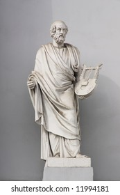 19th century statue of Homer. St.Petersburg, Russia