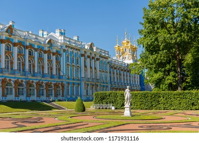 19th June 2018. Tsarskoye Selo, St. Petersburg, Russia. Catherine Palace-the former Royal country residence.