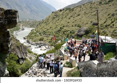 1-June-2018, State Uttrakhand City Kedarnath and Badrinath in India. It is a beautiful place of rural India. Many travelers came here for enjoying holiday every year.