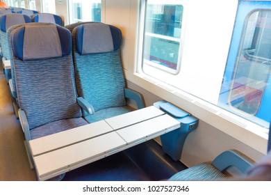 2 class seats in the modern european train