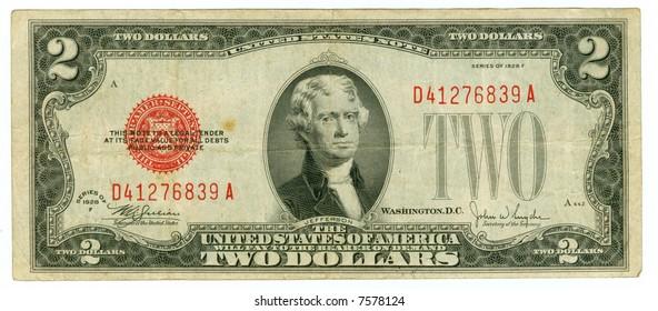 2 Dollar Bills Images, Stock Photos & Vectors   Shutterstock