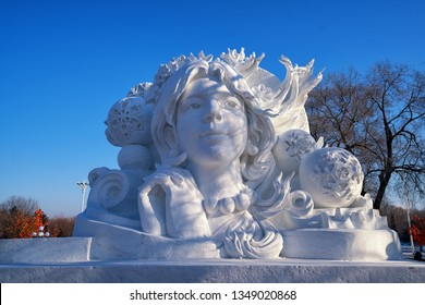2 Jan 19 : Harbin Sun Island International Snow Sculpture Art Expo 2019 with Snow Scuulpture on Winter season in Harbin - China