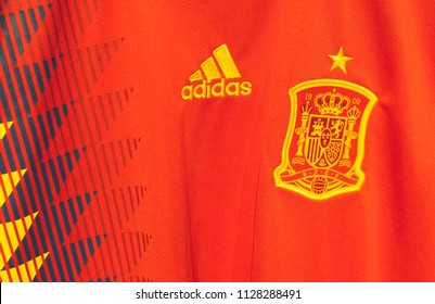 2 July 2018 Moscow, Russia The form of the Spanish national football team at the FIFA World Cup 2018
