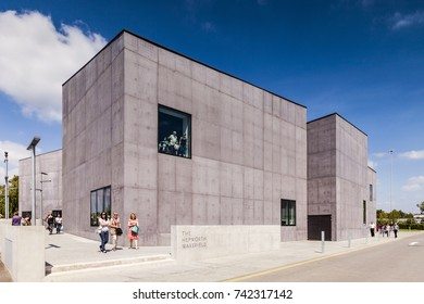 2 June 2011: Wakefield, West Yorkshire, UK - The Hepworth Wakefield, opened on 21 May 2011. Named for the sculptor Barbara Hepworth who was born and educated in the city, holds 44 pieces of her work.
