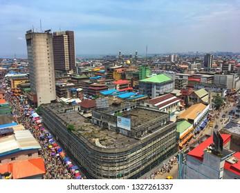 2 March 2019, Lagos Nigeria: Busy Balogun market in Lagos Nigeria