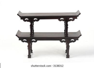2 miniature altar tables