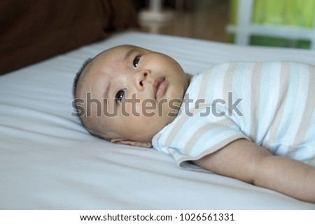 a2362c85c 2 Month Old Baby Lying On Stock Photo (Edit Now) 1026561331 ...
