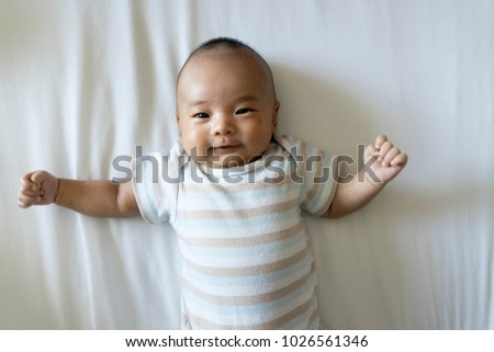 f8d8e0d01 2 Month Old Baby Lying On Stock Photo (Edit Now) 1026561346 ...