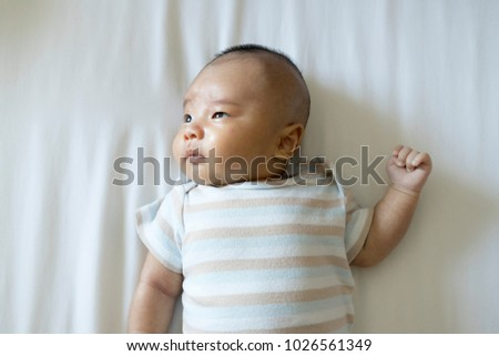 376d82ade 2 Month Old Baby Lying On Stock Photo (Edit Now) 1026561349 ...