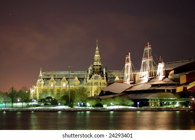 2 museums in Stockholm by night