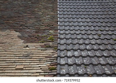 2 roofs side by side