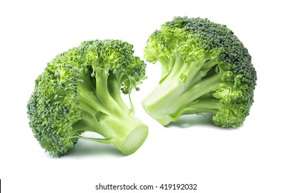 2 separate small broccoli isolated on white background 6 as package design element