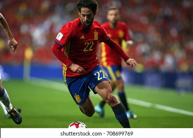 2 september 2017. Stadio Santiago Bernabèu, Madrid, Spain. FIFA 2018 World Cup Qualifier. Group G. Match between Spain vs Italy. Isco in action during the match.