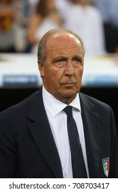 2 september 2017. Stadio Santiago Bernabèu, Madrid, Spain. FIFA 2018 World Cup Qualifier. Group G. Match between Spain vs Italy. Giam Piero Ventura before  the match.