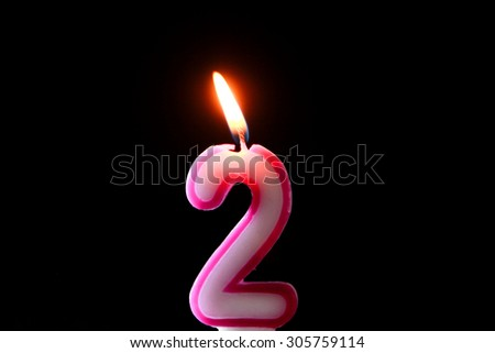 2 Years Candles For Birthday Anniversary Party And Cake