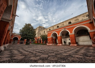 20 APR 2015 : Monastery of Santa Catalina is a main travel attraction in Arequipa, Peru