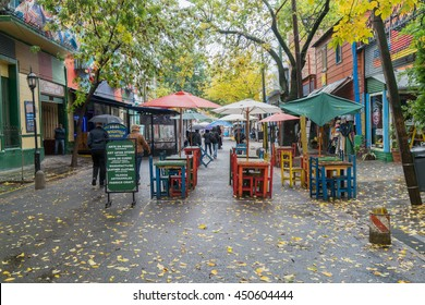 20 APR 2016 : Caminito art street is a clourful walking street, resturant, pub and Main travel attraction in Buenos Aires, ARGENTINA