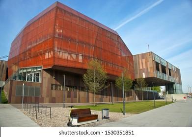 20 April 2019, Warsaw, Poland. Heavens of Copernicus Planetarium at the Copernicus Science Centre.