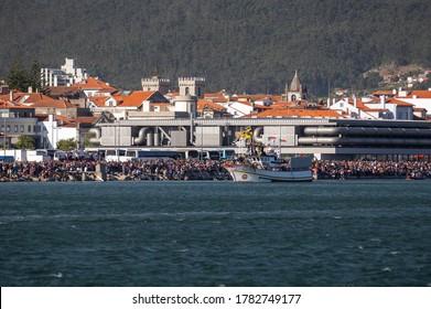 """20 August 2016 - Boats Procession during the Religious Event of """"Senhora da Agonia"""" in Viana do Castelo, Minho,  Portugal."""