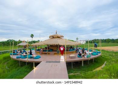 20 August 2019 Coffee shop, Tha Kham station, Hat Yai district Songkhla province, Thailand