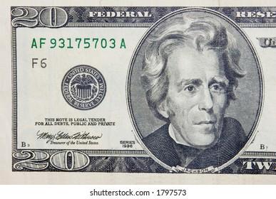 The 20 dollars banknote macro