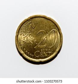 20 euro cents coin