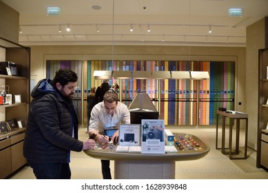 20 January 2020, Strasbourg - France: Strasbourg store of Nespresso brand, one of the largest capsule coffee producers in the world