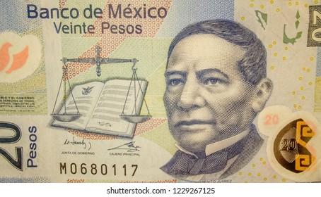 20 mexican pesos banknote