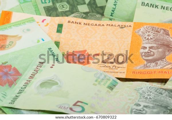 20 Ringgit Malaysia Notes Green Banknotes Stock Photo (Edit Now