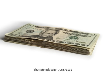 $20 stack on white background
