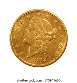 20 us dollar gold coin, double eagle, liberty head, 1892