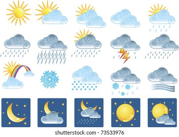 20 weather icons