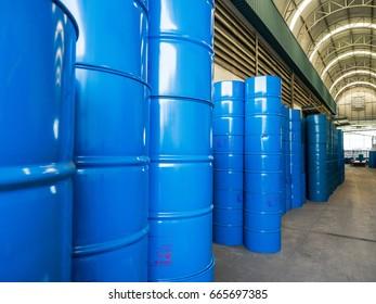 200 liter tank in warehouse