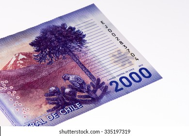 2000 Chilean pesos bank note. Chilean peso is the national currency of Chile