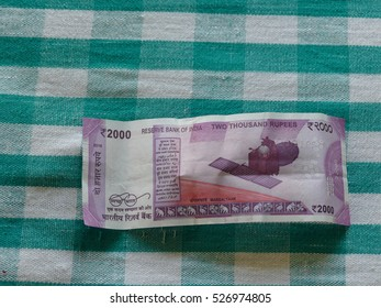 2000 new rupees bank notes in November 2016 in India.